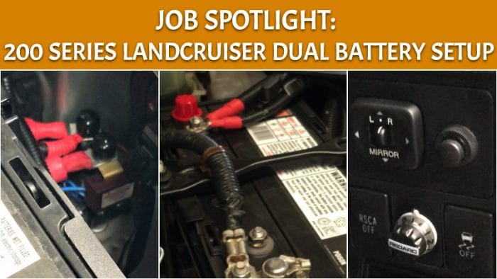 200 Series Landcruiser Dual Battery Amp Accessories Setup