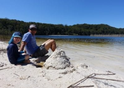 Top 9 things to do on Fraser Island with kids - Lake Garawongera