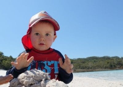 Top 9 things to do on Fraser Island with kids - Lake Mckenzie