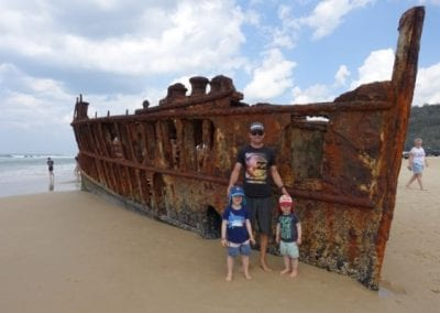 Top 9 things to do on Fraser Island with kids - SS Maheno Shipwreck