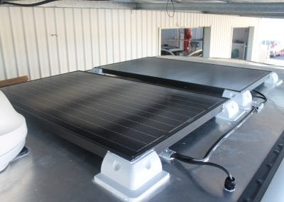 Solar Panels on Gooseneck Trailer