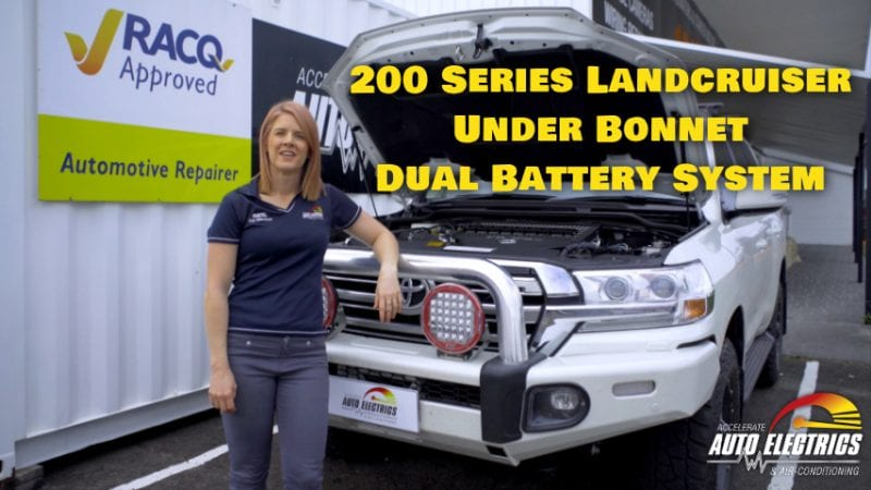 200 Series Under Bonnet Dual Battery System