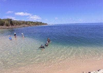Swimming in the sinkhole - Inskip Peninsula Camping Review-18