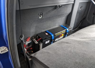 Behind Seat Dual Battery System Installed (Ford Ranger)
