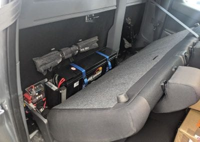 Behind Seat System with Rear Seat Installed