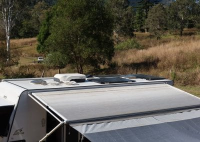 Solar Panels on Jayco Base Station Caravan