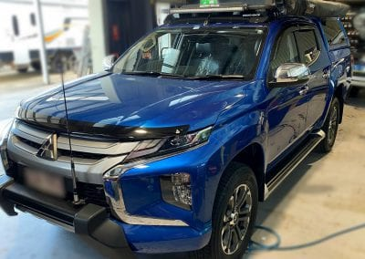 Mitsubishi Triton Behind Seat Dual Battery System and Towing Set Up