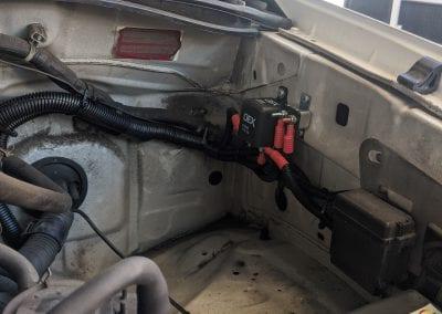 OEX Voltage Sensitive Relay Installed Under Bonnet