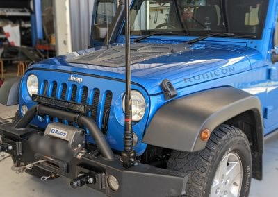 Jeep Wrangler Accessory Install – LED Light Bar & UHF