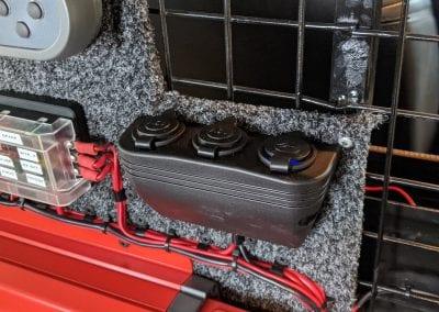 12V Sockets on Panel