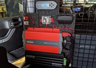 REDARC Battery System in Rear Cargo Area