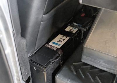 Slimline Invicta Lithium Battery Behind Seat