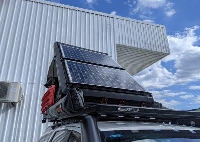 Redarc Solar Panels on Rooftop Tent
